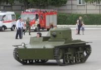 Малый плавающий танк Т-38. Курган, площадь имени В.И. Ленина