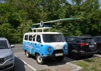 Пассажирский автомобиль УАЗ-2206, оборудованный выдвижным трамплином для прыжков в воду #Н 288 РТ 77. Москва, Ленинградский проспект