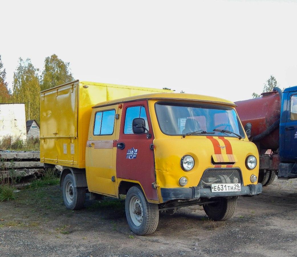 Машина аварийно-ремонтная МАВР-3818С1 на шасси УАЗ 39094, Е 631 ТН 29. Архангельская область,Мирный
