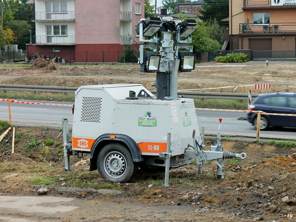 Осветительная мачта Morris Site Machinery SMC TL-90. Długosza/Zagłębia Dąbrowskiego, Сосновец, Польша