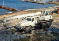 подъемный кран КС-2573 на базе УралАЗ-4320* #О448МН163. г. Самара, набережная реки Волги