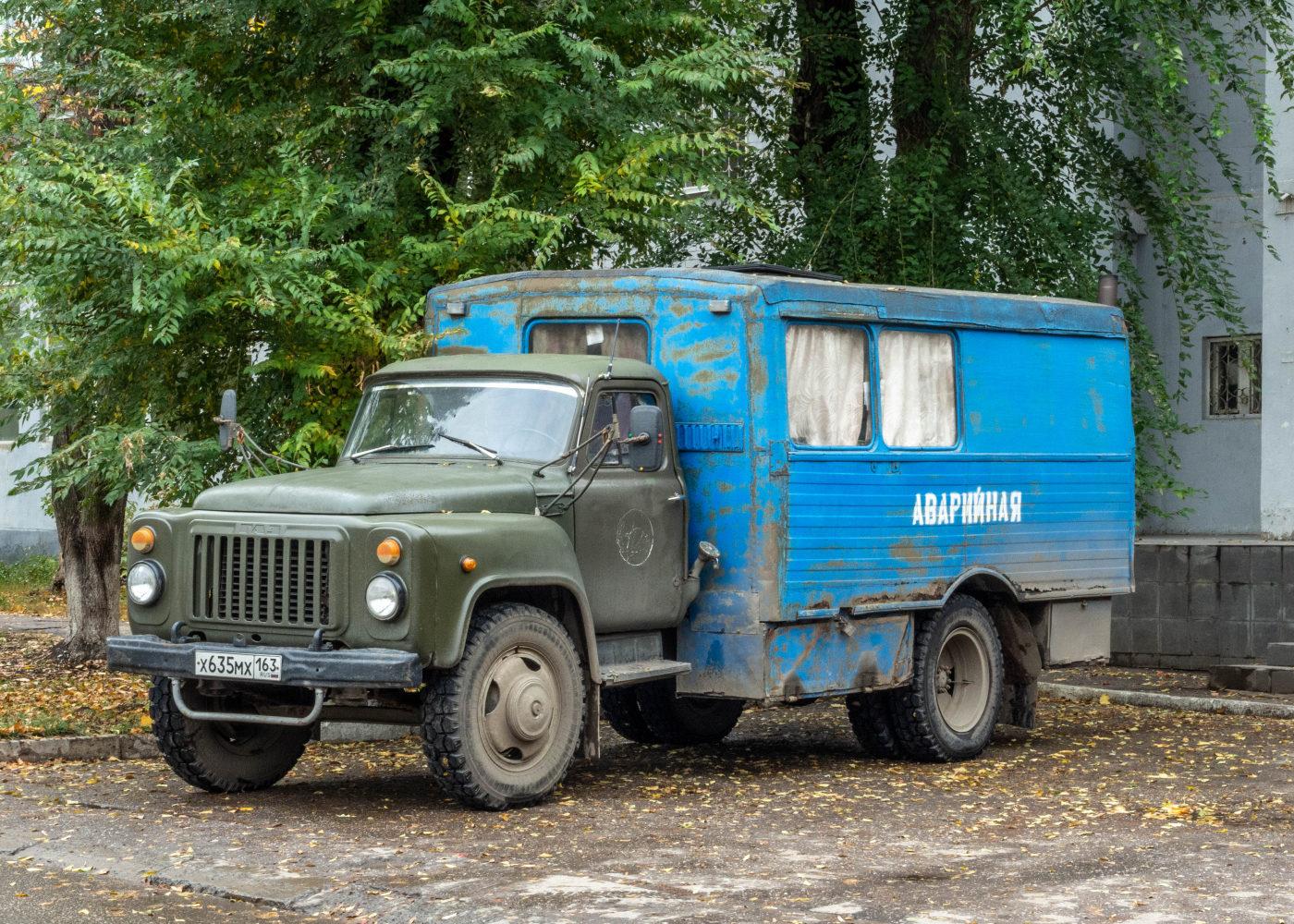 вахтовый автобус ТС-3966 на шасси ГАЗ-53-12 #х635мх163. г. Самара, ул.  Ерошевского