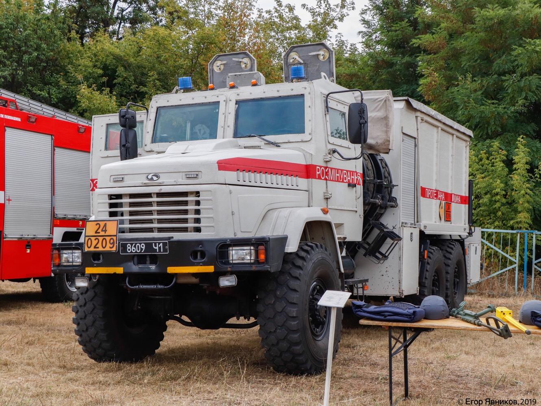 Пиротехнический автомобиль тяжелого типа ПМ-В на шасси КрАЗ-6322, #8609Ч1. Харьковская область, аэродром «Коротич»