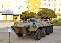 БТР-70 Вооруженных сил ПМР. Приднестровье, Тирасполь, Набережный переулок