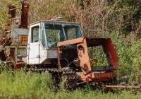 Останки трактора Т-150. Харьковская область