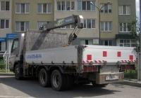 Бортовой грузовой автомобиль с КМУ Mitsubishi Fuso Canter #Е 796 УЕ 72 . Тюмень, улица Бориса Опрокиднева