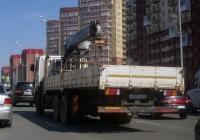 Бортовой грузовой автомобиль с КМУ Hyundai MegaTruck #Н 555 ВВ 72  . Тюмень, улица Пермякова