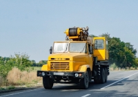 Автокран Bumar-Famaba DS-0183T на шасси КрАЗ-250, #АХ3168ВА. Харьковская область, автодорога Р-46