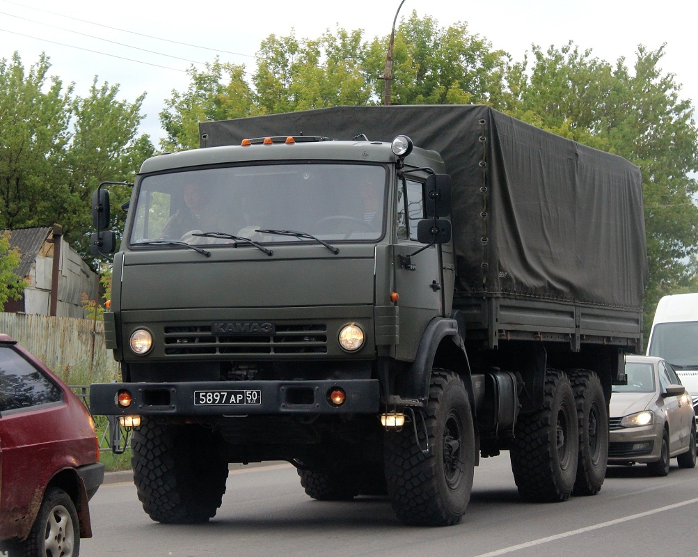 Бортовой грузовик КамАЗ-5350 #5897 АР 50. Псков, улица Советской Армии