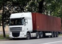 Седельный тягач DAF FTS XF105 #KL-6586. Псков, Вокзальная улица
