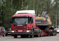Седельный тягач Scania P 114GA #Т 977 МУ 60. Псков, Индустриальная улица