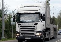 Седельный тягач Scania G440 #С 690 ТУ 750. Псков, Ленинградское шоссе