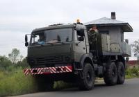 Эвакуатор МТП-А2 на шасси КамАЗ-5350 #7101 АУ 43. Псков, улица Советской Армии
