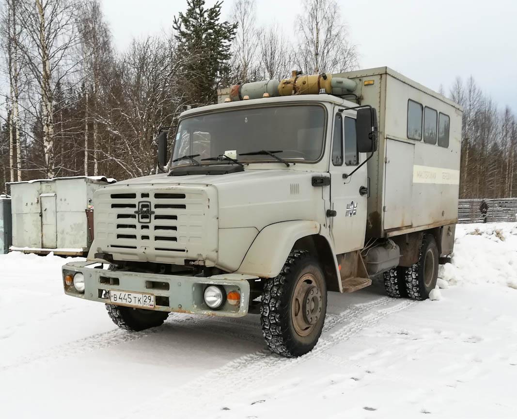 Машина аварийно-ремонтная РЖМ-52 на шасси ЗиЛ-433362, В 445 ТК 29. Архангельская область, Мирный