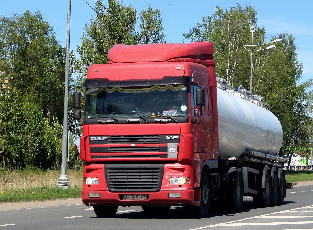 Седельный тягач DAF FT XF 95 #AI 3410 AT. Россия, Псков, Ленинградское шоссе