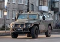 Многоцелевой бронеавтомобиль ГАЗ-2331 Тигр-М #7105 АЕ 43. Псков, Юбилейная улица
