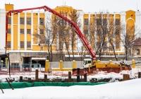 бетонный насос Putzmeister M36-4 на шасси MAN*. г. Самара, ул. Крупской, строительная площадка Фрунзенского моста