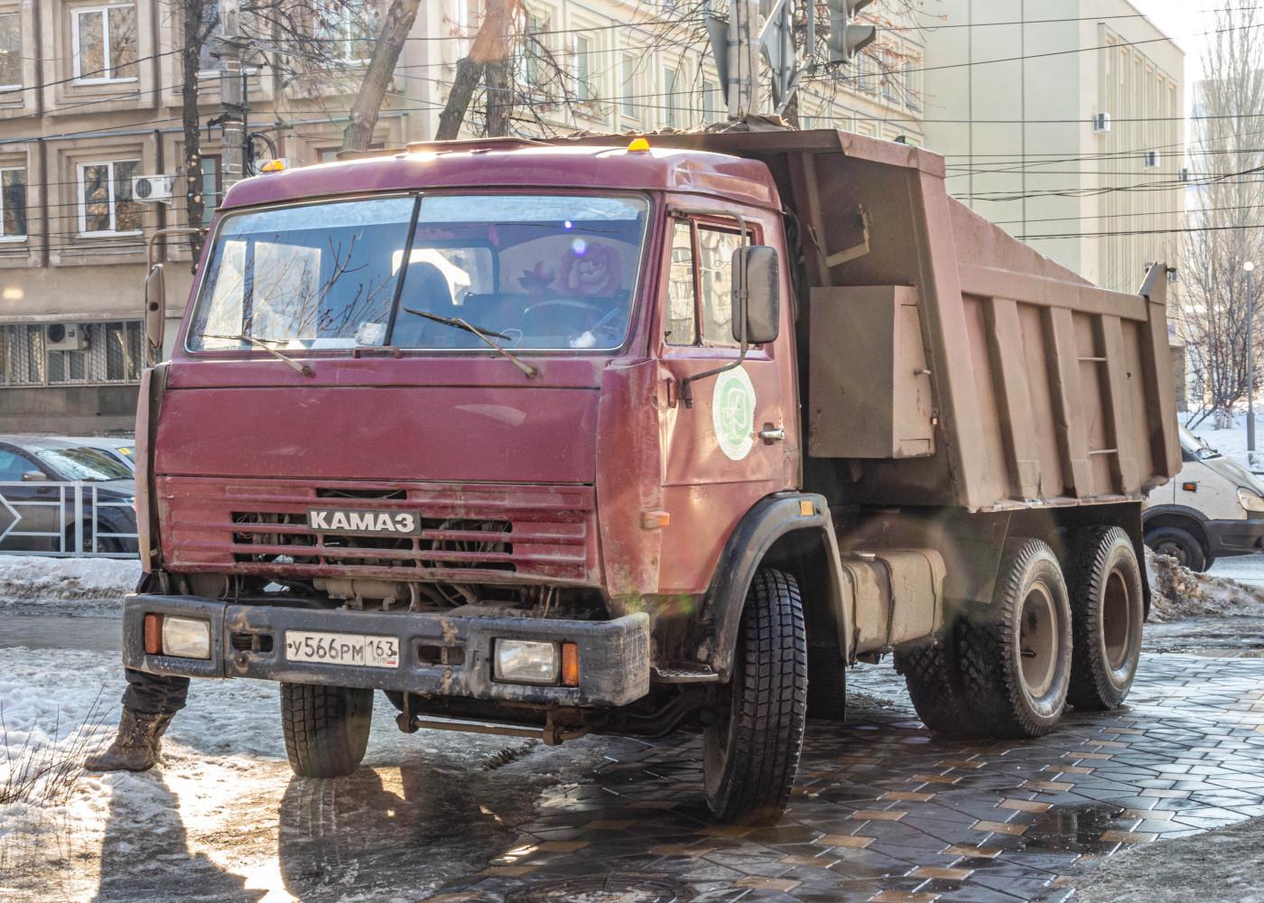 самосвал КамАЗ-65115 #У566РМ163. г. Самара, пр. Ленина