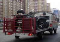 Прицеп #ВА 3776 72 в составе автопоезда. Тюмень, улица Пермякова