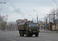 Армейский бортовой грузовой автомобиль КамАЗ-5350 №4348 АМ 77. Москва, улица 1905 года