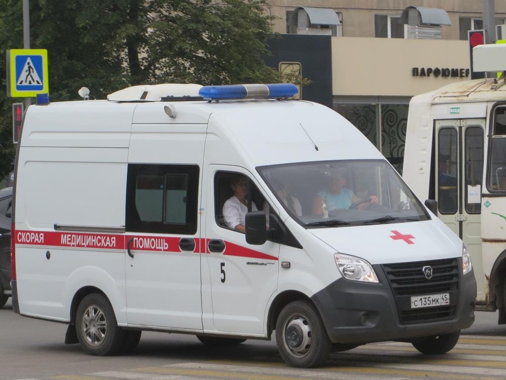 "АСМП ГАЗ-A6BR23 ""Газель Next""  #С 135 МК 45.  Курган, улица Куйбышева"