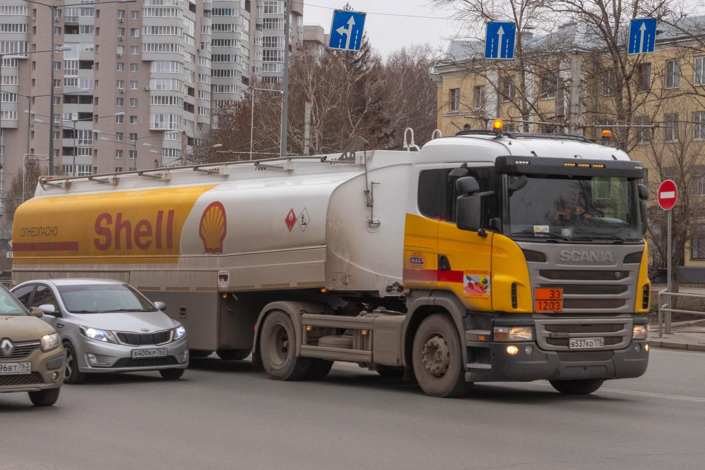 седельный тягач Scania G380 #В537КО178. г. Самара, ул. Ново-Садовая