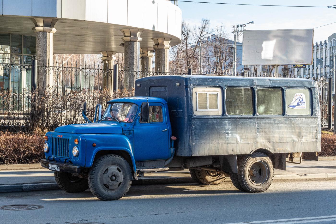 Вахтовый автобус ТС-3966 на шасси ГАЗ-53-12 #Т145АС163. г. Самара, ул. Льва Толстого