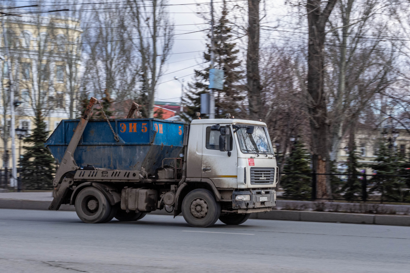 бункеровоз на шасси МАЗ-5551* #У922СА163. г. Самара, площадь Революции