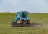 Трактор МТЗ-80, #2342ХБ с навесной ротационной бороной. Харьковская область, Харьковский район, село Петровка