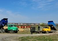 Самосвалы КрАЗ-65055   ##АТ 7046 АН и АТ 5648 АЕ. Харьковская область, пгт Безлюдовка, песчаный карьер