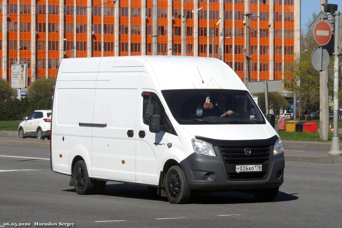 """Цельнометаллический фургон ГАЗ-A31R32 """"Газель Next"""" #У 026 АО 178. Санкт-Петербург, площадь Конституции"""