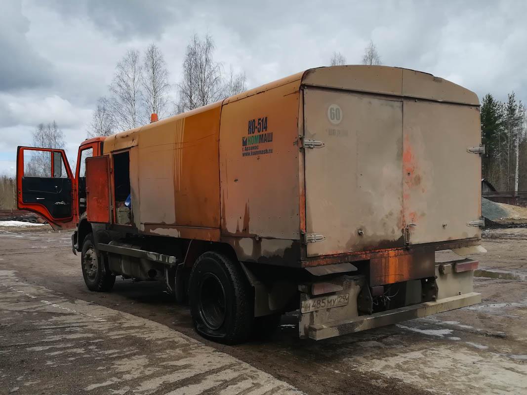 Каналопромывочная машина КО-514 на шасси КамАЗ-43253 Н 485 МУ 29. Архангельская область,Мирный