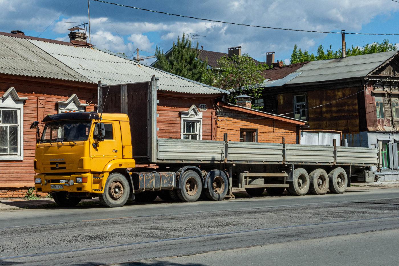 седельный тягач  КамАЗ-54115 #О936ТВ163 с полуприцепом ТОНАР #8008АУ63. г. Самара, ул. Арцибушевская