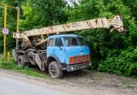 Подъемный кран на шасси МАЗ-500*. Самарская область, с. Рождествено