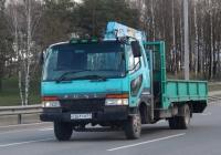 Бортовой грузовик Mitsubishi Fuso Fighter с КМУ Tadano Super Z 300 #О 261 ТМ 11. Псков, Юбилейная улица