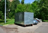 Цельнометаллический автомобильный прицеп-фургон №ЕЕ 3896 77. Москва, улица Приорова
