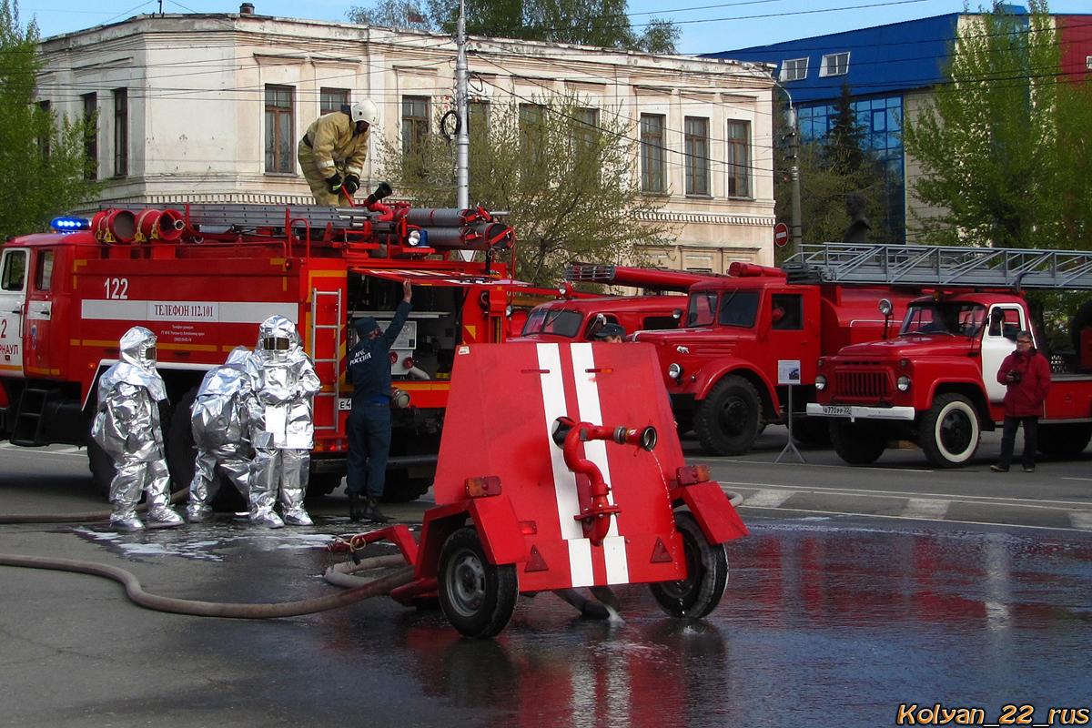 Пожарный щит. Алтайский край, Барнаул, площадь Свободы
