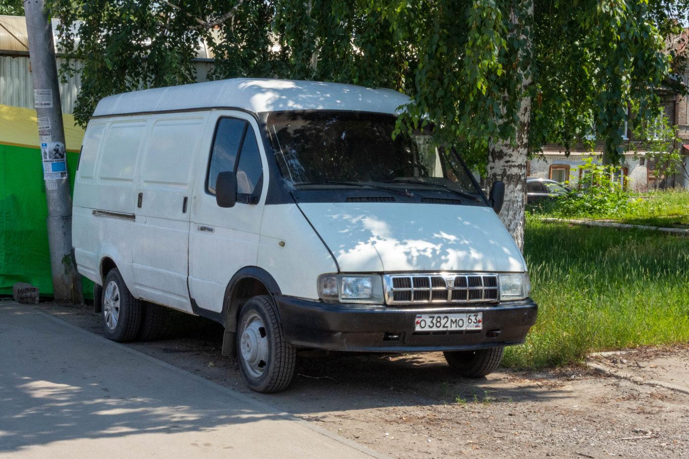 цельнометаллический фургон ГАЗ-2705-288 #О382МО63. г. Самара, ул. Пионерская