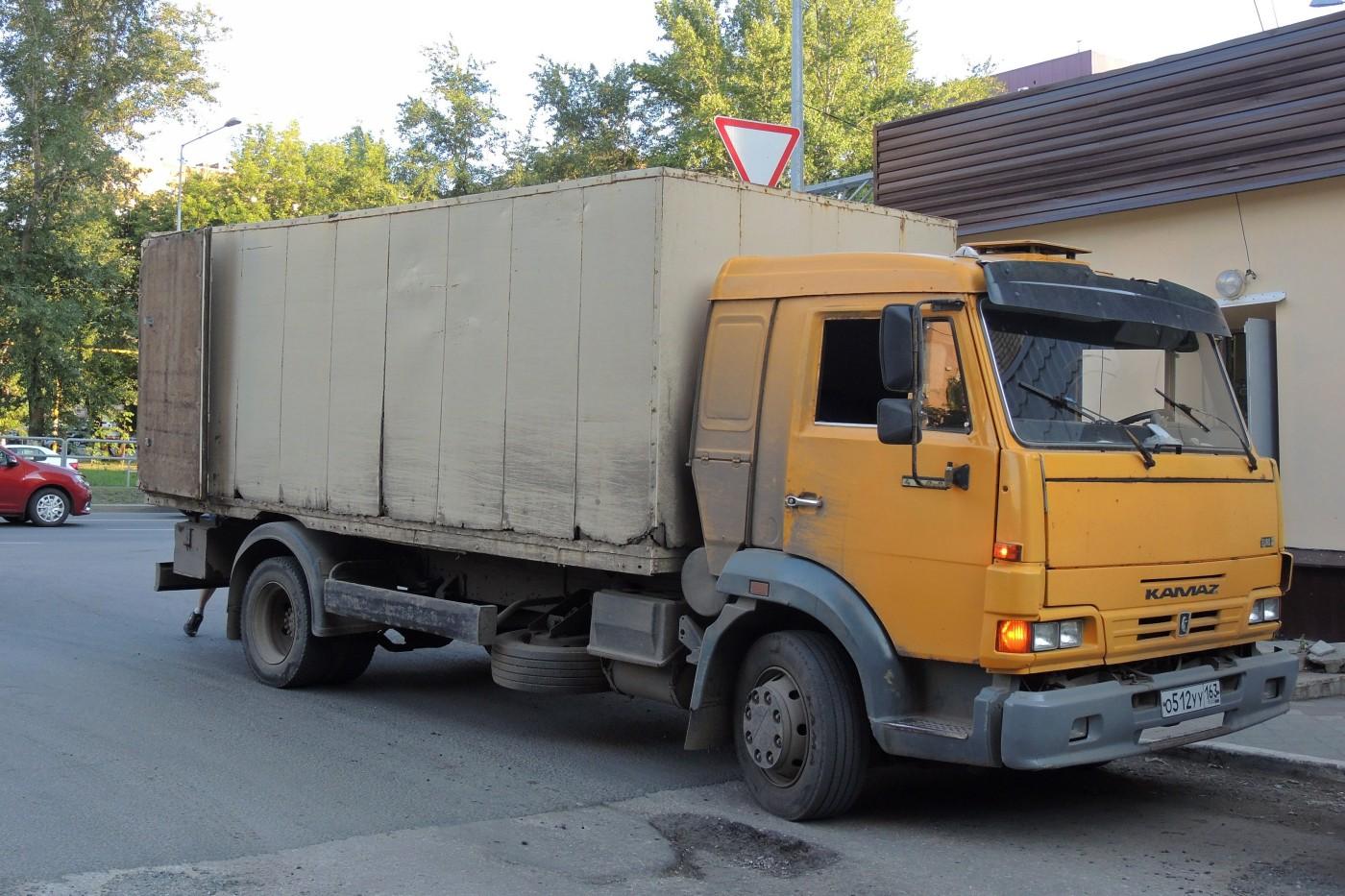 фургон на шасси КАМАЗ-4308 #О512УУ163. г. Самара, ул. Ново-Садовая