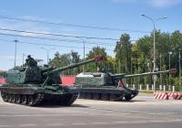 "самоходная артиллерийская установка 2С19 ""Мста-С"" парадного расчета. г. Самара, ул. Вилоновская"