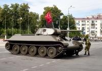 танк-копия танка Т-34-76 образца 1941 года парадного расчета. г. Самара, ул. Вилоновская