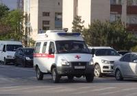 Санитарный автомобиль на шасси ГАЗ. Крым, Евпатория, проспект Победы