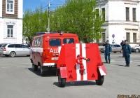 Штабной автомобиль на шасси УАЗ с пожарным щитом. Алтайский край, Барнаул, площадь Свободы