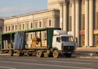 седельный тягач МАЗ-5432 с полуприцепом #С712ОН163. г. Самара, площадь им. В. В. Куйбышева