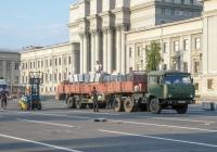 седельный тягач КАМАЗ-65116 с полуприцепом #О787ТК63. г. Самара, площадь им. В. В. Куйбышева