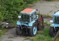 Погрузчик на базе трактора МТЗ-82. Алтайский край, Камень-на-Оби, улица Кондратюка
