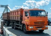 самосвал КАМАЗ-45143-А4 на шасси КАМАЗ-65115 #Х800РА163. г. Самара, Фрунзенский мостовой переход