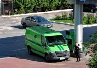 Инкассаторский автомобиль Mercedes-Benz Sprinter 416 CDI #АА 1610 ХМ. Харьковская область, г. Харьков, проспект Льва Ландау