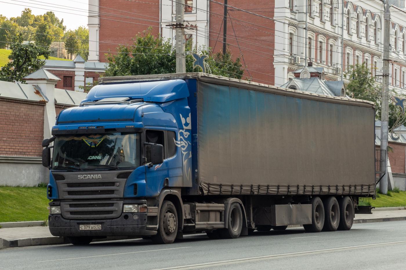 седельный тягач Scania #С379АО12. г. Самара, Волжский проспект