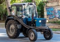 трактор МТЗ-80 с насосом для очистки канализационных сооружений. г. Самара, ул. Первомайская